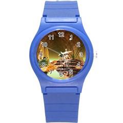 Wonderful Undergraund World Round Plastic Sport Watch (S)