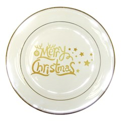 Christmas Gold2 Porcelain Display Plate