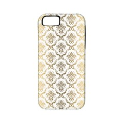 Gold tones vintage floral damasks pattern Apple iPhone 5 Classic Hardshell Case (PC+Silicone)