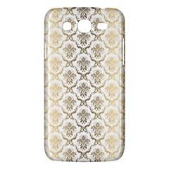 Gold tones vintage floral damasks pattern Samsung Galaxy Mega 5.8 I9152 Hardshell Case