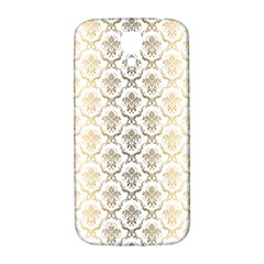Gold tones vintage floral damasks pattern Samsung Galaxy S4 I9500/I9505  Hardshell Back Case