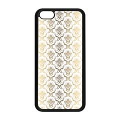 Gold tones vintage floral damasks pattern Apple iPhone 5C Seamless Case (Black)