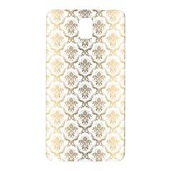 Gold tones vintage floral damasks pattern Samsung Galaxy Note 3 N9005 Hardshell Back Case
