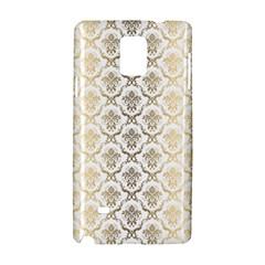 Gold Tones Vintage Floral Damasks Pattern Samsung Galaxy Note 4 Hardshell Case