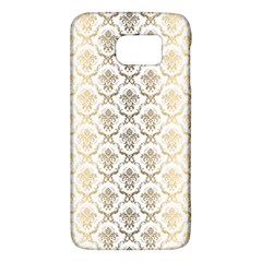 Gold Tones Vintage Floral Damasks Pattern Galaxy S6