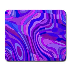 Retro Abstract Blue Pink Large Mousepads