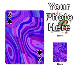 Retro Abstract Blue Pink Playing Cards 54 Designs