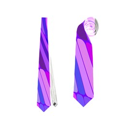 Retro Abstract Blue Pink Neckties (one Side)