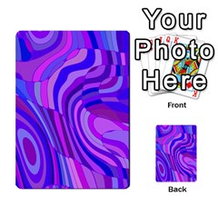 Retro Abstract Blue Pink Multi-purpose Cards (Rectangle)