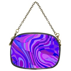Retro Abstract Blue Pink Chain Purses (Two Sides)