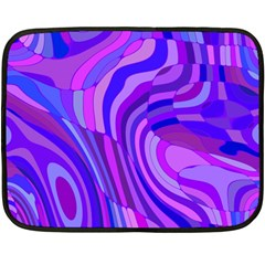 Retro Abstract Blue Pink Double Sided Fleece Blanket (Mini)