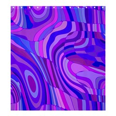 Retro Abstract Blue Pink Shower Curtain 66  X 72  (large)
