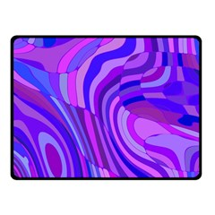 Retro Abstract Blue Pink Fleece Blanket (small)