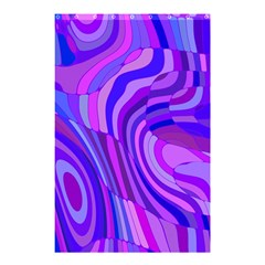 Retro Abstract Blue Pink Shower Curtain 48  X 72  (small)