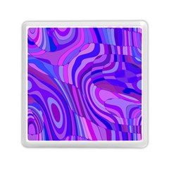 Retro Abstract Blue Pink Memory Card Reader (Square)
