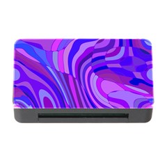 Retro Abstract Blue Pink Memory Card Reader with CF