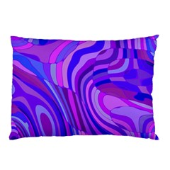 Retro Abstract Blue Pink Pillow Cases (Two Sides)