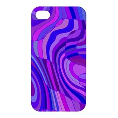 Retro Abstract Blue Pink Apple iPhone 4/4S Hardshell Case