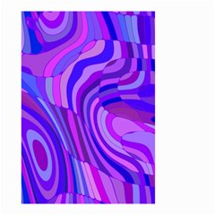 Retro Abstract Blue Pink Small Garden Flag (two Sides)