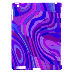 Retro Abstract Blue Pink Apple iPad 3/4 Hardshell Case (Compatible with Smart Cover)