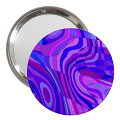Retro Abstract Blue Pink 3  Handbag Mirrors