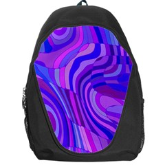 Retro Abstract Blue Pink Backpack Bag