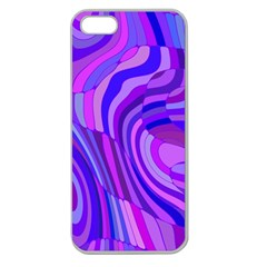 Retro Abstract Blue Pink Apple Seamless iPhone 5 Case (Clear)