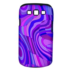 Retro Abstract Blue Pink Samsung Galaxy S III Classic Hardshell Case (PC+Silicone)