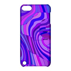Retro Abstract Blue Pink Apple iPod Touch 5 Hardshell Case with Stand