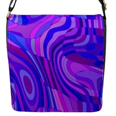 Retro Abstract Blue Pink Flap Messenger Bag (S)