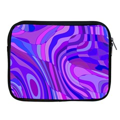 Retro Abstract Blue Pink Apple iPad 2/3/4 Zipper Cases