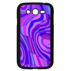 Retro Abstract Blue Pink Samsung Galaxy Grand DUOS I9082 Case (Black)
