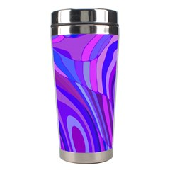 Retro Abstract Blue Pink Stainless Steel Travel Tumblers