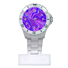 Retro Abstract Blue Pink Nurses Watches