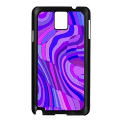 Retro Abstract Blue Pink Samsung Galaxy Note 3 N9005 Case (Black)