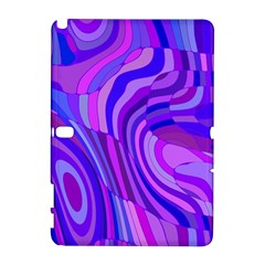 Retro Abstract Blue Pink Samsung Galaxy Note 10.1 (P600) Hardshell Case