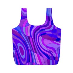 Retro Abstract Blue Pink Full Print Recycle Bags (m)