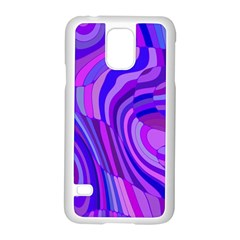 Retro Abstract Blue Pink Samsung Galaxy S5 Case (white)