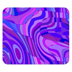 Retro Abstract Blue Pink Double Sided Flano Blanket (Small)