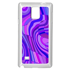Retro Abstract Blue Pink Samsung Galaxy Note 4 Case (White)