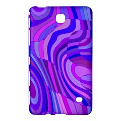 Retro Abstract Blue Pink Samsung Galaxy Tab 4 (8 ) Hardshell Case