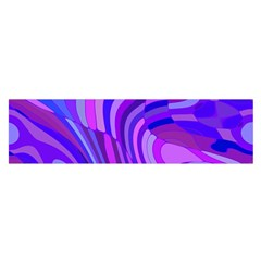 Retro Abstract Blue Pink Satin Scarf (oblong)