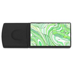 Retro Abstract Green USB Flash Drive Rectangular (1 GB)
