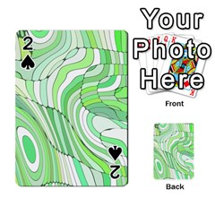 Retro Abstract Green Playing Cards 54 Designs