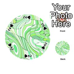 Retro Abstract Green Playing Cards 54 (Round)