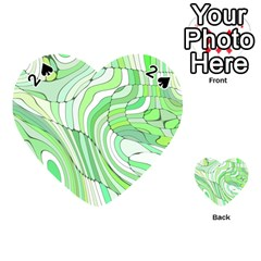 Retro Abstract Green Playing Cards 54 (heart)