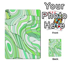 Retro Abstract Green Multi Purpose Cards (rectangle)