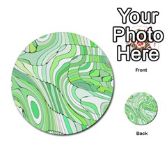 Retro Abstract Green Multi-purpose Cards (Round)