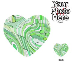 Retro Abstract Green Multi Purpose Cards (heart)