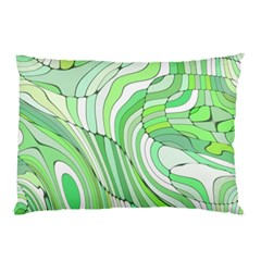 Retro Abstract Green Pillow Cases